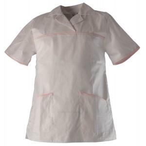 Bluza de lucru alba cu maneca scurta LISA