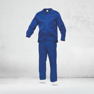 Salopeta de lucru ( set pantalon CU PIEPTAR + jacheta ) COMANDA SPECIALA - ALBASTRU ROYAL