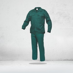 Salopeta de lucru ( set pantalon CU PIEPTAR + jacheta ) COMANDA SPECIALA - VERDE