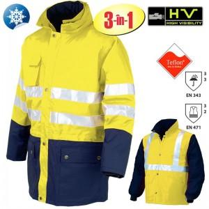Jachetă de lucru 3 în 1 Hi-Viz VALDIEZZA-G
