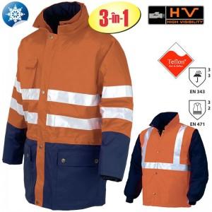 Jachetă de lucru 3 în 1 Hi-Viz VALDIEZZA-P