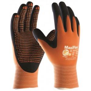 Manusi de lucru PROFESIONALE imersate in nitril ATG MAXIFLEX ENDURANCE 34-848 palma impregnata cu puncte
