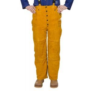 Pantaloni de lucru cu pieptar pentru sudor - WELDAS Golden Brown 44-2648